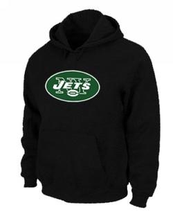 Men's New York Jets Nike Logo Pullover Hoodie - - Black