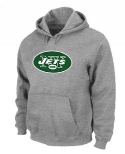 Men's New York Jets Nike Logo Pullover Hoodie - - Grey