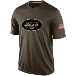 Men's New York Jets Nike Salute To Service KO Performance Dri-FIT T-Shirt - Olive