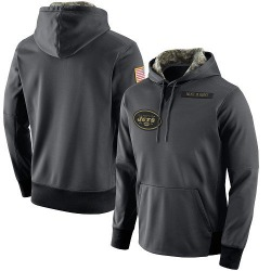 Men's New York Jets Nike Salute to Service Player Performance Hoodie - Anthracite