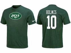 Men's New York Jets Nike Santonio Holmes Name & Number T-Shirt - - White