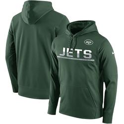 Men's New York Jets Nike Sideline Circuit Pullover Performance Hoodie - Green