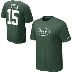 Men's New York Jets Nike Tim Tebow Name & Number T-Shirt - - White
