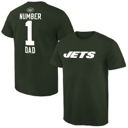 Men's New York Jets Pro Line Number 1 Dad T-Shirt - Green