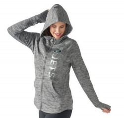 Women's New York Jets G-III 4Her by Carl Banks Recovery Full-Zip Hoodie - Heathered - Gray