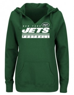 Women's New York Jets Majestic Self-Determination Pullover Hoodie - - Green