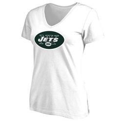 Women's New York Jets Primary Team Logo Slim Fit T-Shirt - White