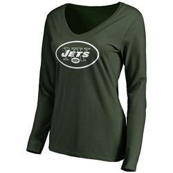 Women's New York Jets Pro Line Primary Team Logo Slim Fit Long Sleeve T-Shirt - Green