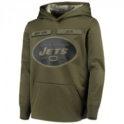 Youth New York Jets Nike 2018 Salute to Service Pullover Performance Hoodie - Green